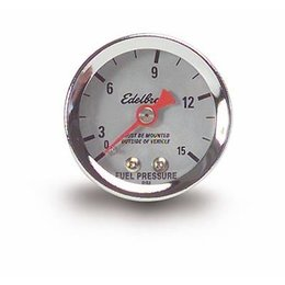 Edelbrock Gauge Fuel Pressure, 0-15 psi, 1 1/2 in., Analog