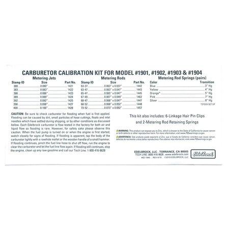 Edelbrock Calibration Kit For #1901/1902/1903/1904