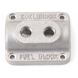 Edelbrock Brandstofverdeelblok, Dual- Carburateur