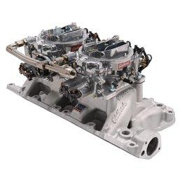 Edelbrock Dual Quad Kit. RPM Air-Gap. 289-302 Ford