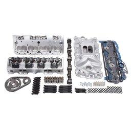 Edelbrock E-Street Top End Kit, Small Block Chevy EFI, 338HP + Carburator Deal!