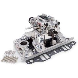 Edelbrock Manifold and Carb Kit. Performer RPM. Air-Gap. Small Block Chrysler. EnduraShine? Finish.