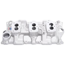Edelbrock C357-B Three-Deuce Manifold, Chevrolet Small Block