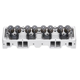 Edelbrock Cylinder Head, SBC, Performer RPM, 64cc, Angled Spark Plugs, for Hydraulic Roller Cam. Complete (Ea)
