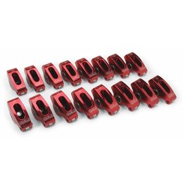 "Edelbrock Red Roller Rocker Arms, Chevrolet Small Block, 3/8"", 1.5:1 Ratio"
