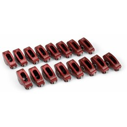 "Edelbrock Red Roller Rocker Arms, Ford Small Block, 3/8"", 1.6:1 Ratio"