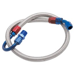 Edelbrock Fuel Line Braided Stainless, Ford Small Block