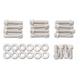 "Edelbrock Plated Intake Bolt Kit, Chevrolet 348/409 ""W"" Series"