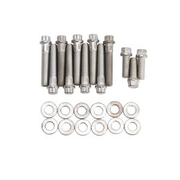 Edelbrock Plated Intake Bolt Kit, Oldsmobile 330-403