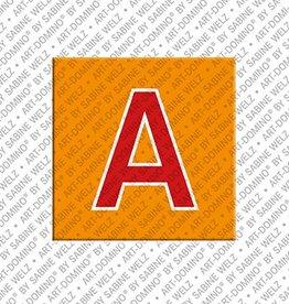 ART-DOMINO® BY SABINE WELZ Magnet - Buchstabe A - 1