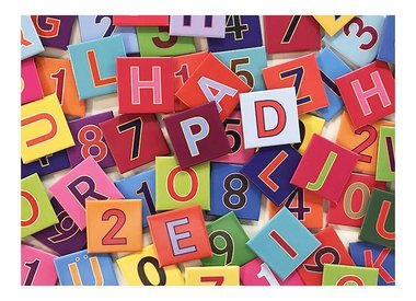 LETTERS + NUMBERS