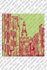 ART-DOMINO® BY SABINE WELZ Amsterdam – Grachtenhäuser + Oude Kerk