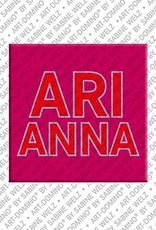 ART-DOMINO® BY SABINE WELZ Arianna - Magnet mit dem Vornamen Arianna