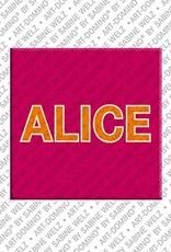 ART-DOMINO® by SABINE WELZ Alice - Aimant avec le nom Alice