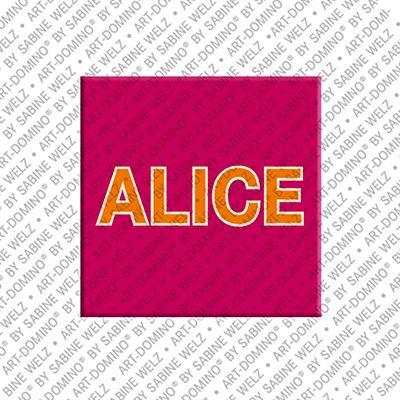 ART-DOMINO® BY SABINE WELZ Alice - Magnet mit dem Vornamen Alice