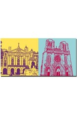 ART-DOMINO® BY SABINE WELZ Nizza - Place Garibaldi + Basilisque Notre-Dame de Nice