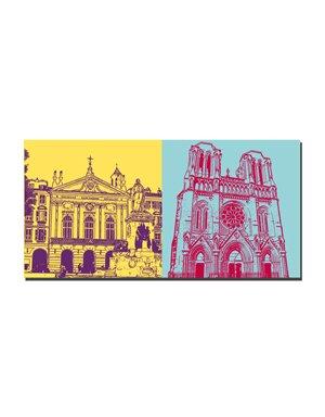 ART-DOMINO® by SABINE WELZ Nice - Place Garibaldi + Basilisque Notre-Dame de Nice