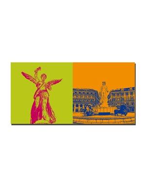 ART-DOMINO® BY SABINE WELZ Nizza - Nikh-Statue + Brunnen am Place Masséna