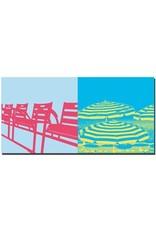 ART-DOMINO® BY SABINE WELZ Nizza - Stühle + Sonnenschirme an der Promenade des Anglais