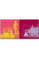 ART-DOMINO® BY SABINE WELZ Nizza - Nationaltheater und David + Museum für Moderne Kunst