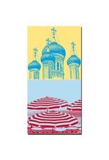 ART-DOMINO® BY SABINE WELZ Nizza - Russisch-orthodoxe Kathedrale Saint-Nicolas + Sonnenschirme an der Promenade des Anglais