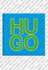 ART-DOMINO® by SABINE WELZ Hugo – Magnet with the name Hugo
