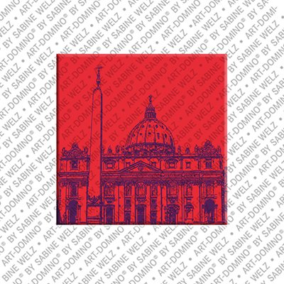 ART-DOMINO® by SABINE WELZ Rome – St. Peter's Basilica - 02
