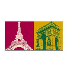 ART-DOMINO® BY SABINE WELZ IMAGE SUR TOILE - PARIS - 4304