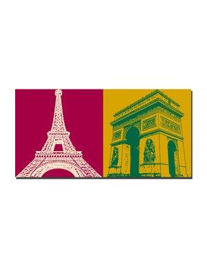 ART-DOMINO® BY SABINE WELZ Paris - Eiffelturm  + L'arc de triomphe