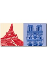 ART-DOMINO® BY SABINE WELZ Paris - Eiffelturm  + Notre Dame