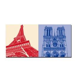 ART-DOMINO® BY SABINE WELZ IMAGE SUR TOILE - PARIS - 4344