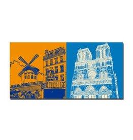 ART-DOMINO® BY SABINE WELZ IMAGE SUR TOILE - PARIS - 4313