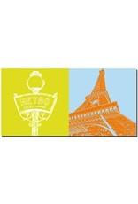 ART-DOMINO® BY SABINE WELZ Paris - Metroschild + Eiffelturm