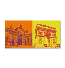 ART-DOMINO® BY SABINE WELZ IMAGE SUR TOILE - PARIS - 4316