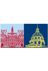 ART-DOMINO® by SABINE WELZ Paris - Town Hall + Dome of Invalides