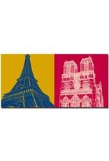 ART-DOMINO® by SABINE WELZ Paris - Eiffel Tower + Notre Dame