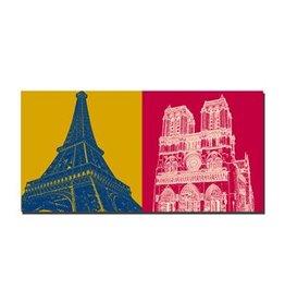 ART-DOMINO® by SABINE WELZ PICTURE ON CANVAS - PARIS - 4318