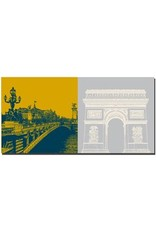 ART-DOMINO® BY SABINE WELZ Paris - Pont Alexandre  + L'arc de triomphe