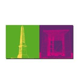 ART-DOMINO® BY SABINE WELZ IMAGE SUR TOILE - PARIS - 4321