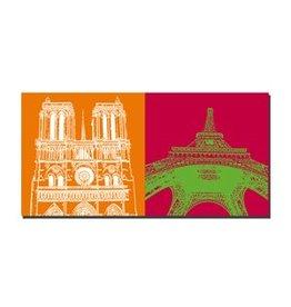 ART-DOMINO® by SABINE WELZ PICTURE ON CANVAS - PARIS - 4346