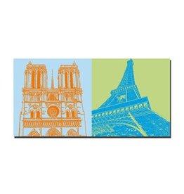 ART-DOMINO® BY SABINE WELZ IMAGE SUR TOILE - PARIS - 4307