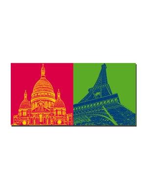 ART-DOMINO® BY SABINE WELZ Paris - Sacré-Coeur + Eiffelturm