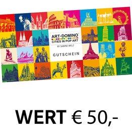 ART-DOMINO® by SABINE WELZ CHÈQUE-CADEAU 50 €