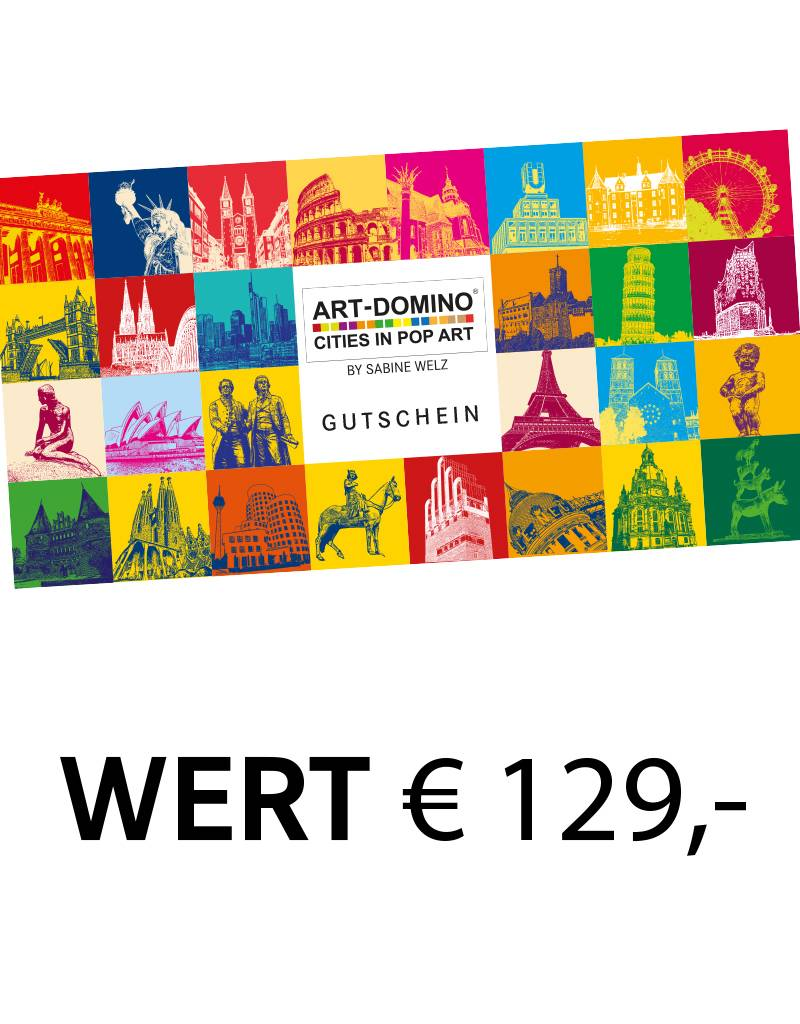 ART-DOMINO® BY SABINE WELZ Geschenkgutschein im Wert von € 129