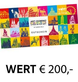 ART-DOMINO® by SABINE WELZ CHÈQUE-CADEAU 200 €