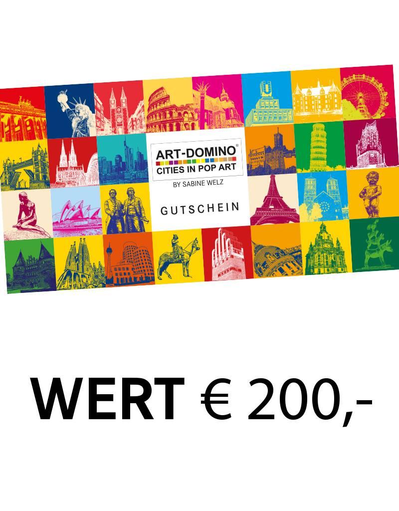 ART-DOMINO® BY SABINE WELZ Geschenkgutschein im Wert von € 200