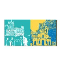 ART-DOMINO® BY SABINE WELZ LEINWANDBILD - MONACO - 079-04