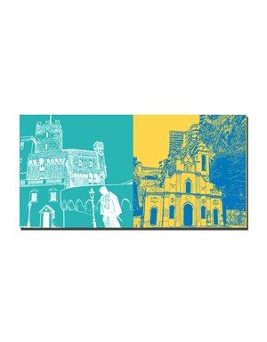 ART-DOMINO® by SABINE WELZ Monaco - Fürstenpalast + Eglise Sainte Dévote