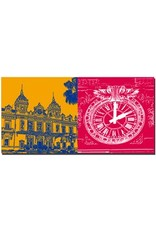 ART-DOMINO® BY SABINE WELZ Monaco - Casino Monte Carlo + Casino Monte Carlo - Uhr
