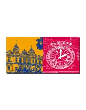 ART-DOMINO® by SABINE WELZ Monaco - Casino Monte Carlo + Casino Monte Carlo - clock